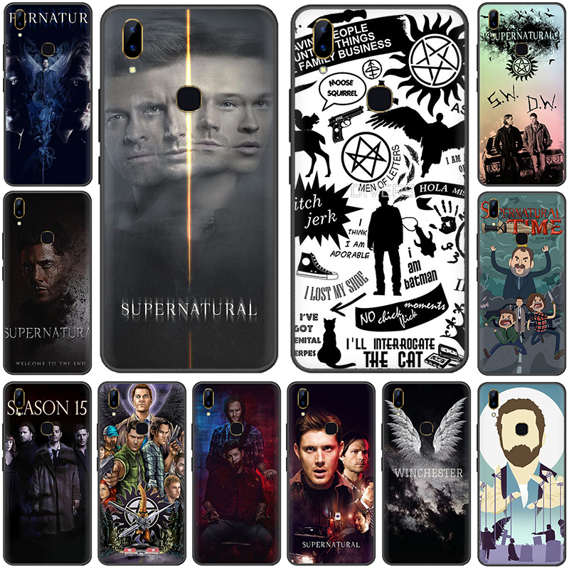 Supernatural spn Silicone phone <font><b>case</b></font> for <font><b>VIVO</b></font> V15 V11 Pro V9 V7 V5 Y17 Y55s <font><b>Y69</b></font> Y71 Y81s Y91C Y93 Y66 X9s image