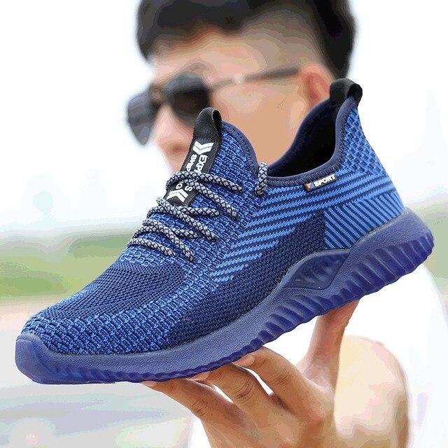 Chaussures de sécurité à bout en acier, chaussures Ryder indestructibles, pour hommes et femmes, bottes de sécurité à Air, baskets de travail aérées et anti perforation