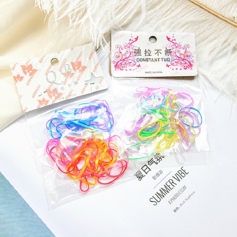 30 To 50 Pieces One Time Ponytail Holder Elastic Hair Band Hair Holder Rubber Hairband For Girls Rope Tie Gum Hair Accessories