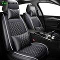(Передняя + задняя) Роскошный кожаный чехол для сиденья автомобиля 4 сезона для Volkswagen vw passat b5 b6 b7 polo 4 5 6 7 гольф Tiguan Jetta Touareg