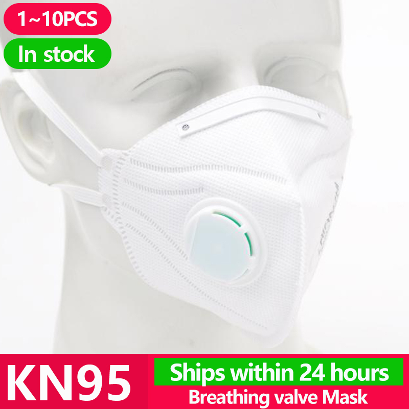 [1~10pcs] KN95 Disposable Face Masks N95 Protective Filter Mouth Respirator Dust Mask Flu Facial Template Ffp2 Pm2.5 Mouth Cover