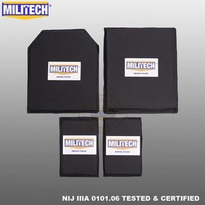 Image 1 - MILITECH 10 x 12 STC&SC And 5 x 8 Pairs Aramid Ballistic Panel Bullet Proof Plate Soft Cummerbund Side Armour NIJ Level IIIA 3A