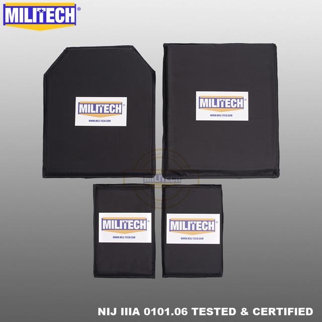 MILITECH 10 x 12 STC&SC And 5 x 8 Pairs Aramid Ballistic Panel Bullet Proof Plate Soft Cummerbund Side Armour NIJ Level IIIA 3A