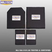 Militech 10x12 stc & sc e 5x8 pares de aramida painel balístico placa à prova de bala macio cummerbund armadura lateral nij nível iiia 3a