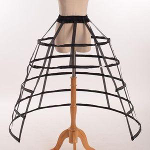 Image 2 - Hollow Ruffled Bird Cage Fishbone Skirt Support Girls Cosplay Petticoat