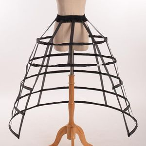 Image 2 - Hollow Ruffled Bird Cage 생선 뼈 치마 지원 Girls Cosplay Petticoat