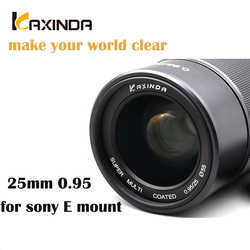 Kaxinda 25mm f/0.95 High Definition Wide Angle  Lens with Large Aperture for Sony E Mount Mirrorless Camera