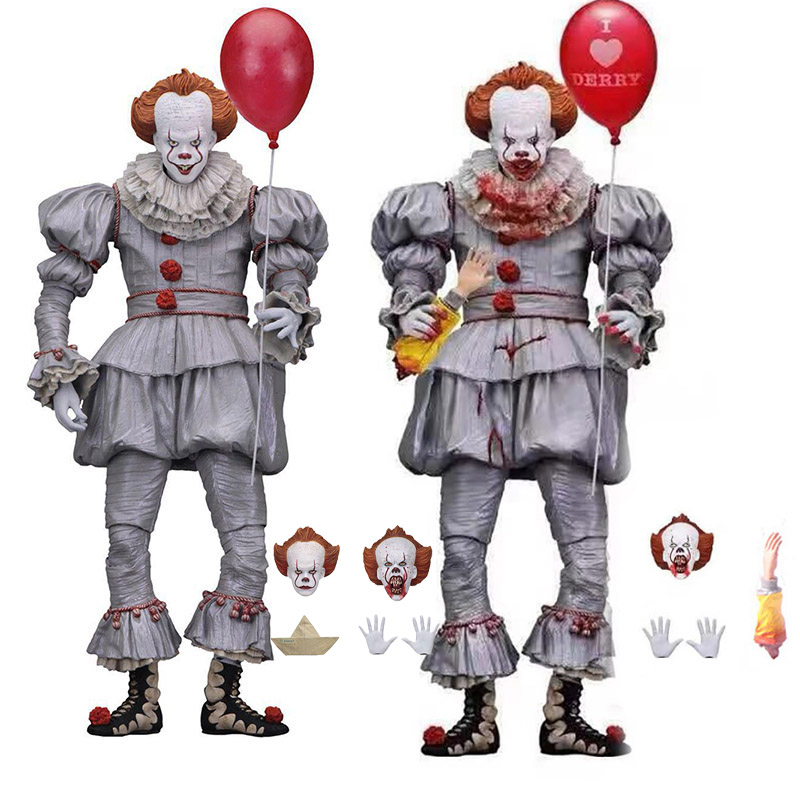 Lensple NECA Toys Stephen King's It the Clown Pennywise Figure PVC Horror Action Figures Toy Model da collezione