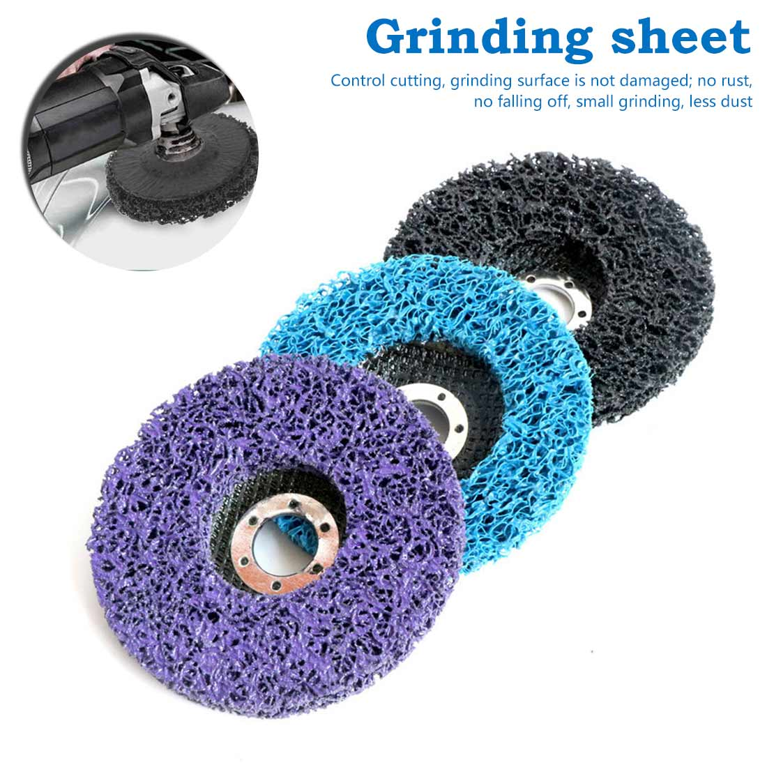 100x16mm Cleaning Strip Wheel Grinding Disc For Paint Rust Grinder Remover Tools Angle Grinder Rust Remover Sheet