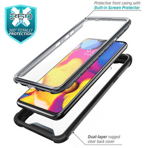 Image 4 - I BLASON For LG V40 Case Ares Full Body Rugged Clear Bumper Cover with Built in Screen Protector For LG V40 ThinQ (2018 Release)