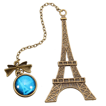 Vintage Eiffel Tower Metal Book Mark Bookmarks For Book Creative Item Kids Gift Korean Stationery Bookmark Books Markers