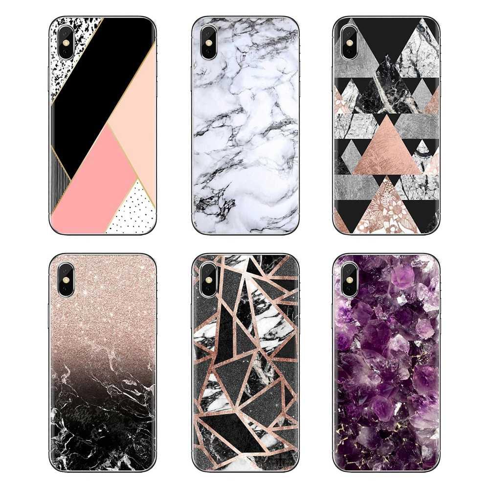 Morbido Trasparente Custodie Coperture Per Samsung Galaxy S3 S4 S5 Mini S6 S7 Bordo S8 S9 S10 Più Nota 3 4 5 8 9 rosa Glitter Oro Marmo