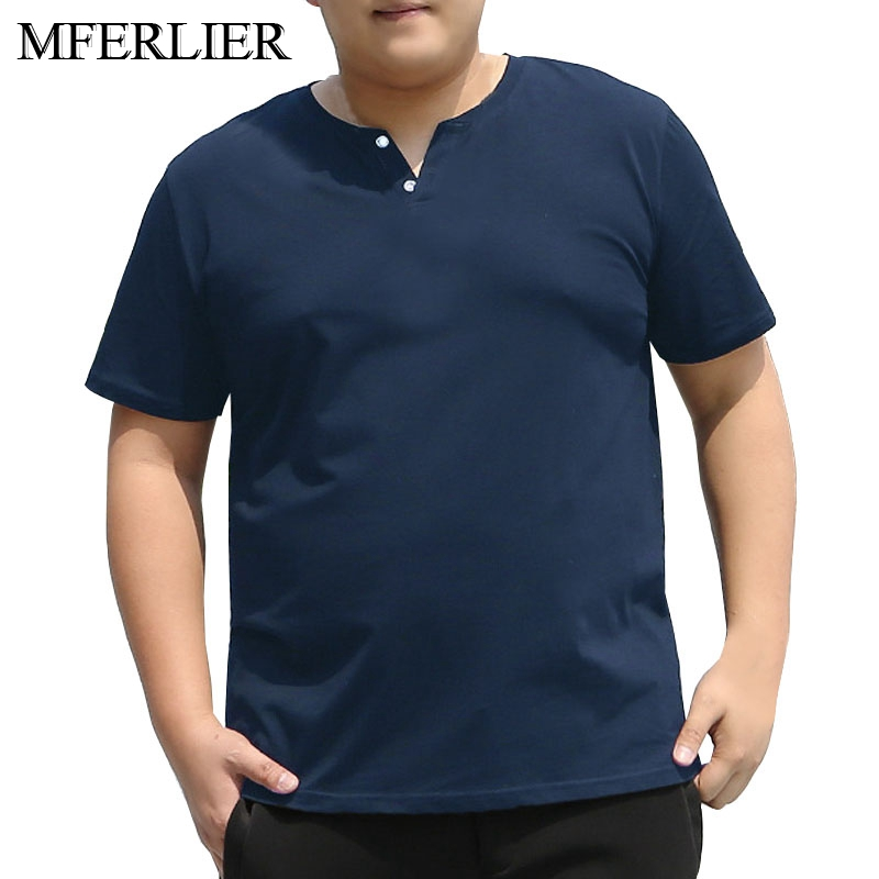 Summer <font><b>shirt</b></font> <font><b>men</b></font> 5XL <font><b>6XL</b></font> 7XL 8XL Bust 142cm Plus size cotton <font><b>shirts</b></font> for <font><b>men</b></font> 4 colors image