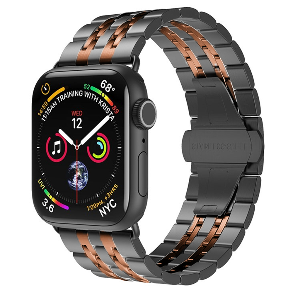 <font><b>pulseira</b></font> for <font><b>apple</b></font> <font><b>watch</b></font> band 44mm 40mm Series 5 4 Stainless Steel correa for iwatch band Serie 3 <font><b>2</b></font> <font><b>42mm</b></font> 38mm bracelet armband image