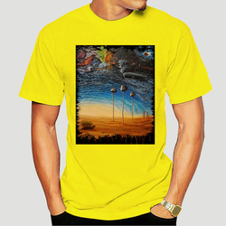 Above The Clouds Psychedelic Mushroom T Shirt Men hippie Tee 100% cotton funny print tshirt men women shirts 1215X