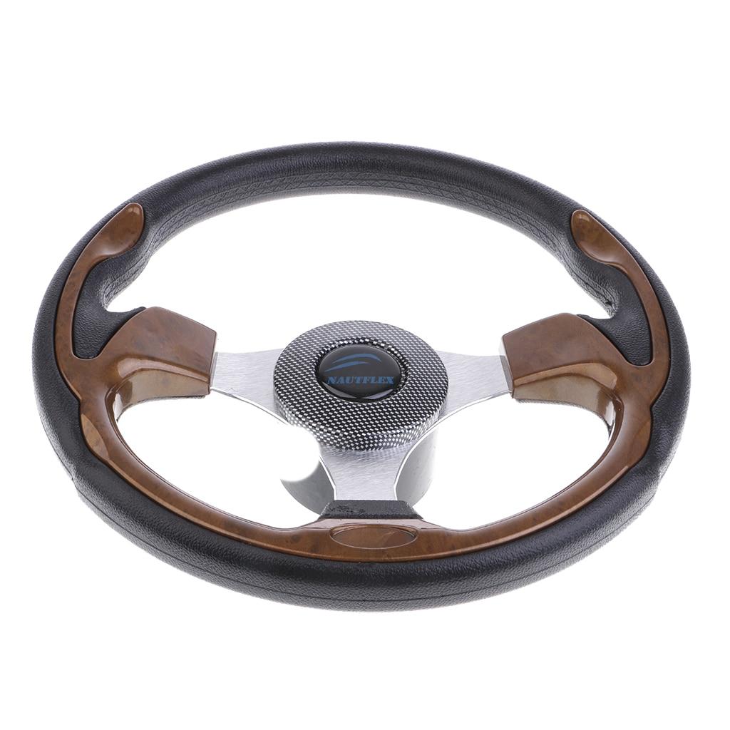 Performance Boat Marine 320mm 3/4'' 3 Spoke Steering Wheel & Foam Grip
