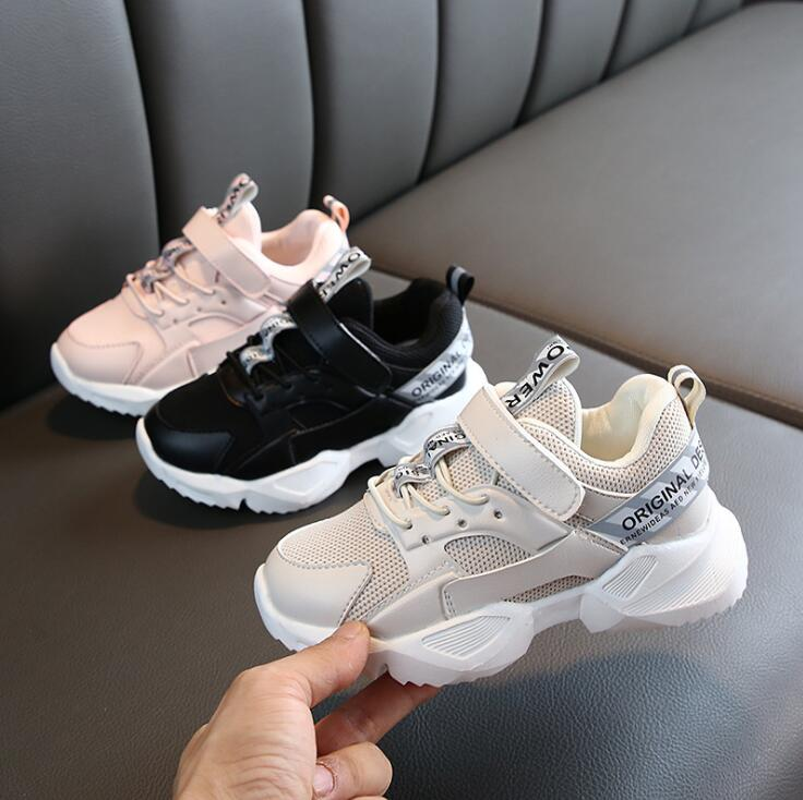 Kids Shoes 2019 Boys White Shoes Girls Causal Leather Sneakers Children Breathable Running Shoes Toddler Sports Shoes