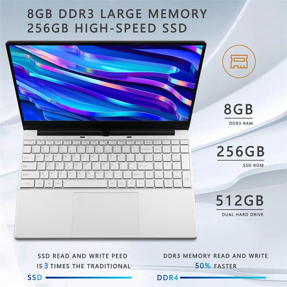 15.6 inch Metal Body Laptop intel i5 5257U 8GB 256 GB 512 GB SSD With Full Layout Keyboard Backlight Fingerprint Unlock Game 2