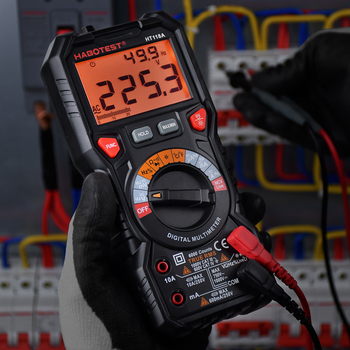 Digital Multimeter HABOTEST HT118A Voltage Meter Auto Range Frequency Transistor Capacitance Resistance Tester AC DC 1000V 10A habotest ht118c profesional ncv digital multimeter 6000 counts ac dc multitester frequency transistor capacitance tester