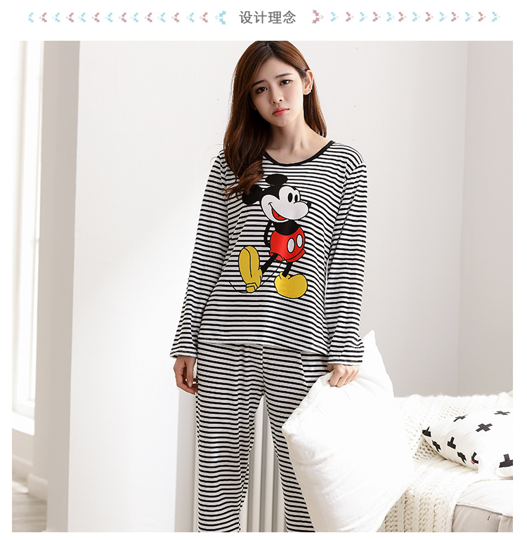 Wholesale Pajamas Sets Spring Autumn 22 Style Thin Carton Generation Women Long Sleepwear Suit Home Women Gift Female Sleepwear 33