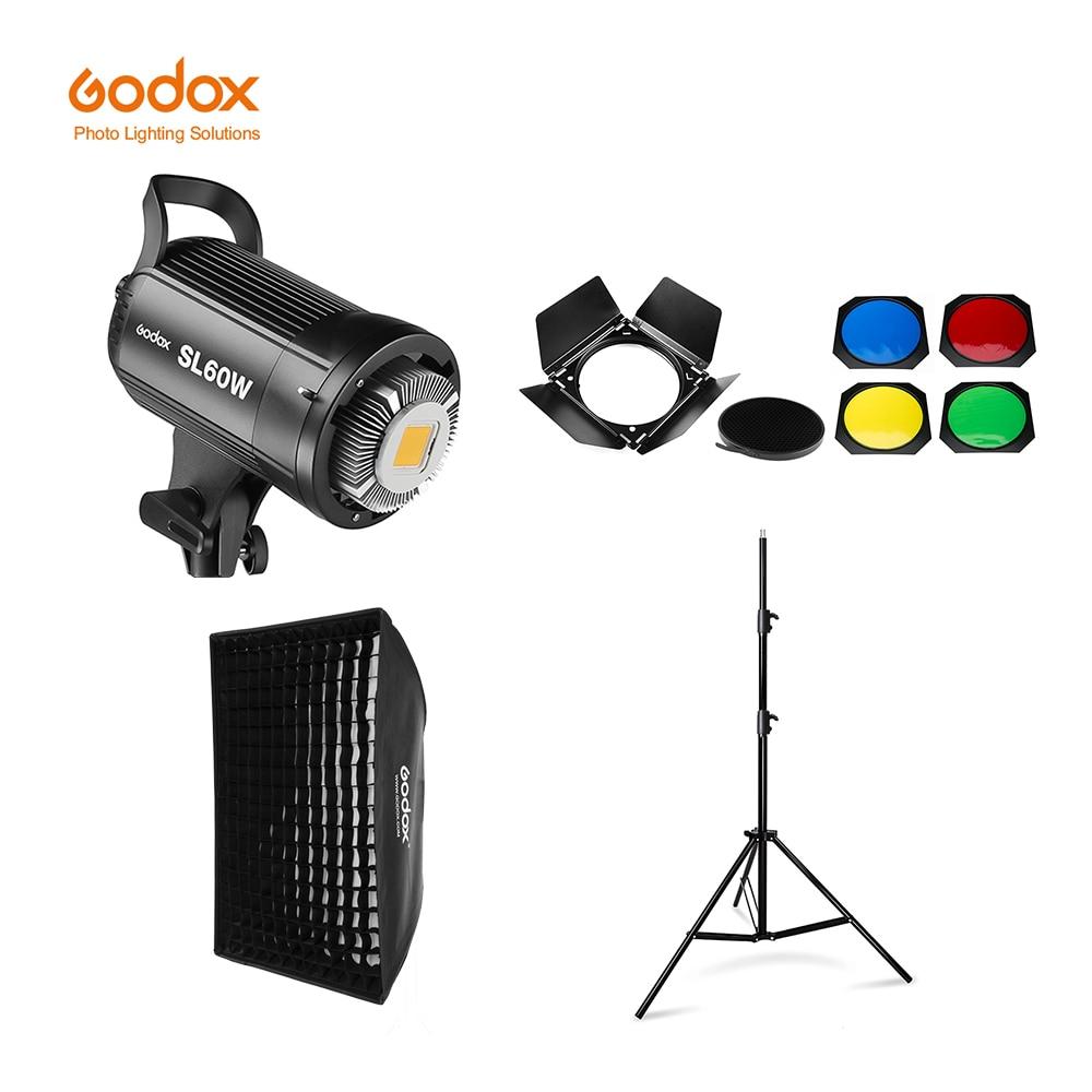 Светодиодная лампа для видеосъемки Godox, белая версия 5600K светильник непрерывного освещения для видеосъемки + светильник ительная стойка 190 с...
