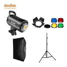 مصباح فيديو LED من Godox SL 60W إصدار 5600K أبيض مصباح فيديو طقم إضاءة مستمرة + حامل إضاءة 190 سنتيمتر + 60x90 سنتيمتر صندوق إضاءة بونز