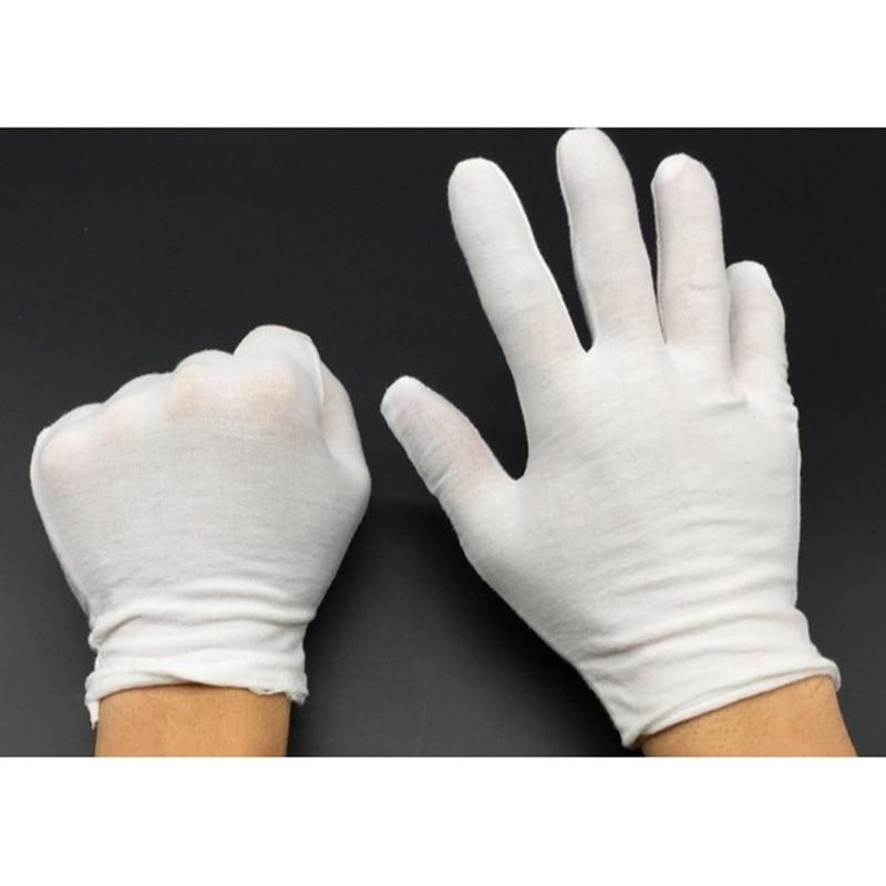 12 Pairs White Work Gloves Inspection Cotton Work High Stretch Gloves Thin Lightweight Etiquette Gloves