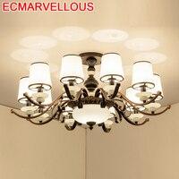 Wystrój Plafon Luminaria Vintage do salonu Lustre Colgante Moderna Plafondlamp Lampara De Techo Plafonnier lampa sufitowa w Oświetlenie sufitowe od Lampy i oświetlenie na