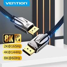 Vention-Cable de Audio DisplayPort 1,4, 8K, 60Hz, 4K, HDR, puerto de pantalla para vídeo, PC, portátil, TV, 1,4 DP, 1,2
