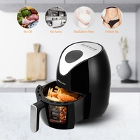 Fast Air Fryer 1000W 1.8L Multifunction Air Fryer without oil fume Fry Chicken French fries meat Egg Tart food for home use