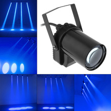Blue Stage Lighting 5W Blue LED Beam Spotlight Dance Party DJ Bar Spin Stage Light Pinspot Lights For disco club DJ KTV bar Home стоимость