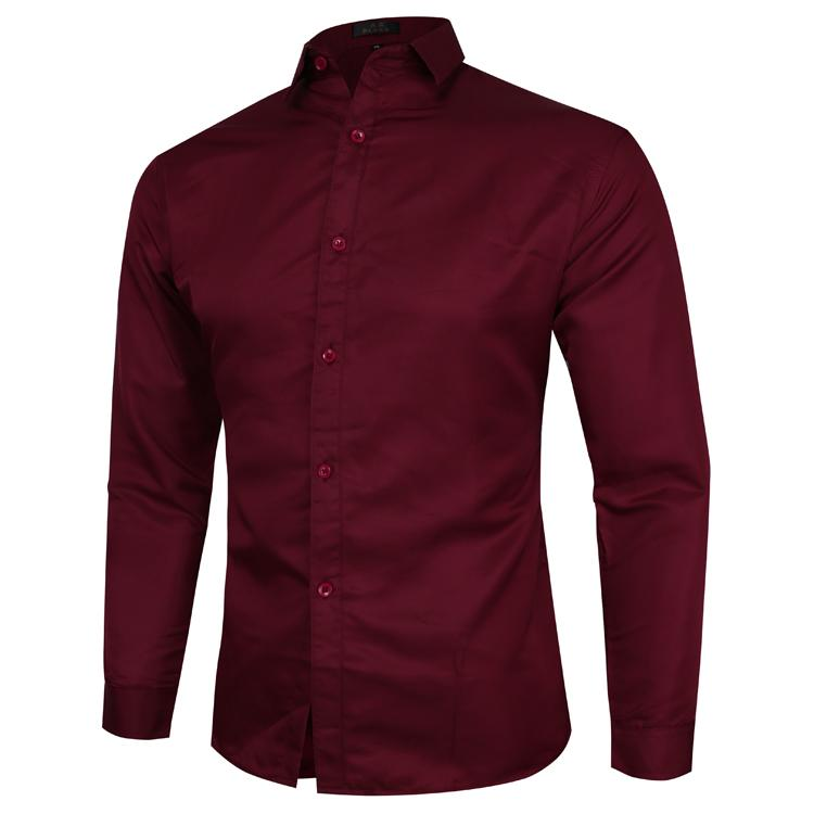 Plus size Formal Men's Shirt Dress Blouse Male Long-sleeved Solid color Business Casual Shirt for Men White Black Pink