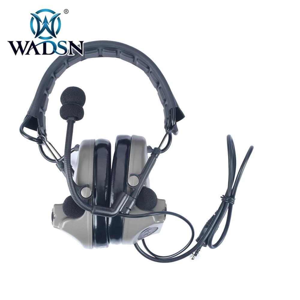 Wadsn comtac ii tático fones de ouvido