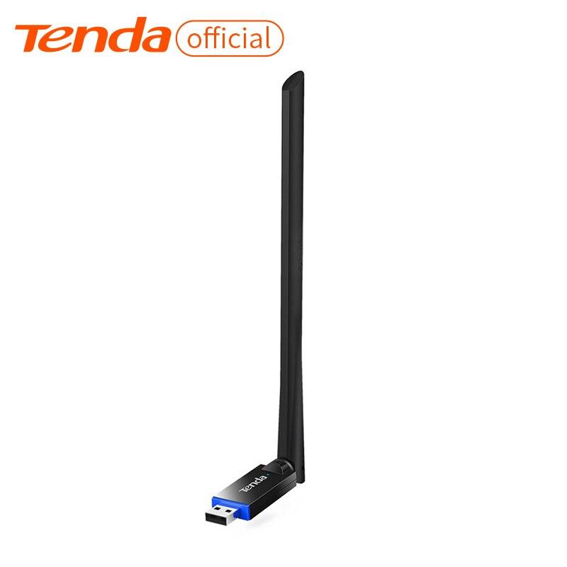 Tenda U10 300 Мбит/с беспроводной адаптер USB сетевая карта, портативный Wi-Fi точка доступа, 1 * 6dBi внешняя антенна, станция/режим SoftAP