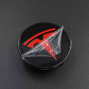 Image 2 - FOR TESLA MODEL X S 3 car styling XWC1385 01 Auto Accessories 56MM 58MM Badge Wheel Center cap cover emblem
