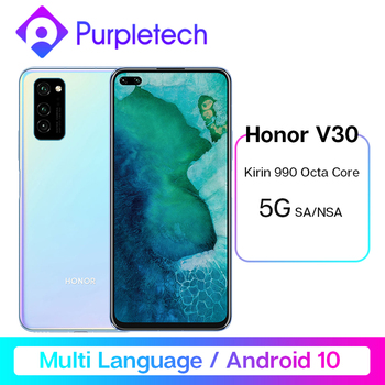 Original Honor V30 5G Smartphone Kirin990 7nm Octa core 16Core GPU 40mp AI Triple Camera 40W SuperCharge Android 10