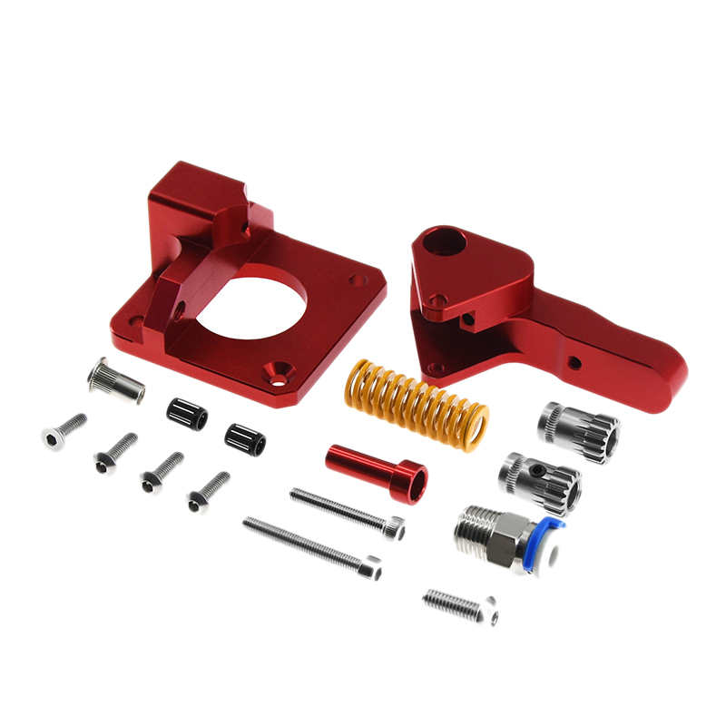 HOT-Cr10 Pro Aluminum Upgrade Dual Gear Extruder Kit For Cr10S Pro Reprap Prusa I3 1.75Mm Drive Feed Double Pulley Extruder