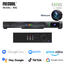 Mecool Amlogic S905X4 KA2 Android 10 TV With 1080P HD Camera Box tvbox Smart Media Player tvbox for Video Calling Speaker NOW