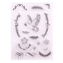 Peace Dove Cute Animal Feather Flower Clear Stamps Scrapbook Paper Craft Stamp Scrapbooking