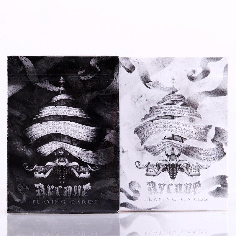 Ellusionist Black Arcane Deck Black / White Magic Cards Παιγνιόχαρτο Πόκερ Close Up Stage Magic Tricks για Επαγγελματίες Μάγους