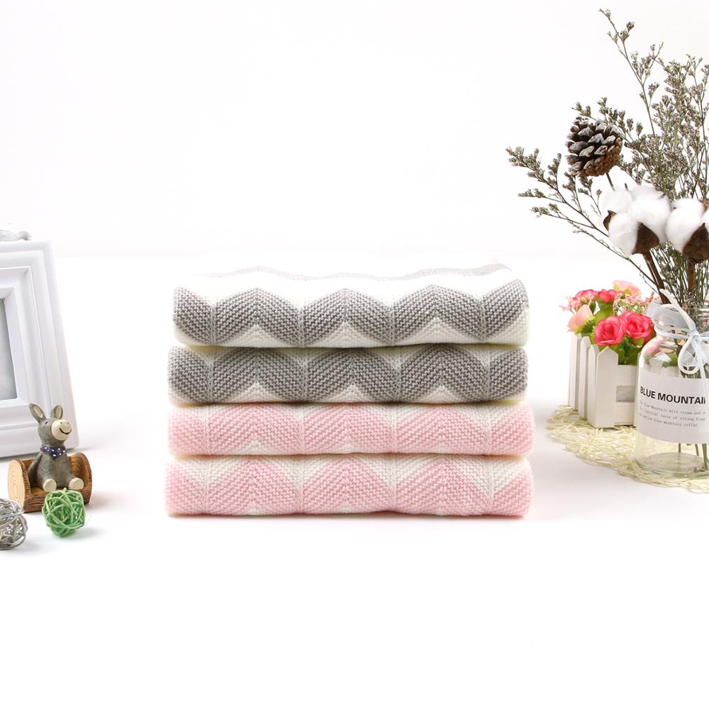 Baby Blankets Knitted 100*75cm Newborn Bebes Swaddle Wrap Towels Super Soft Infant Kids stroller Bed Sofa Sleeping Cover Blanket