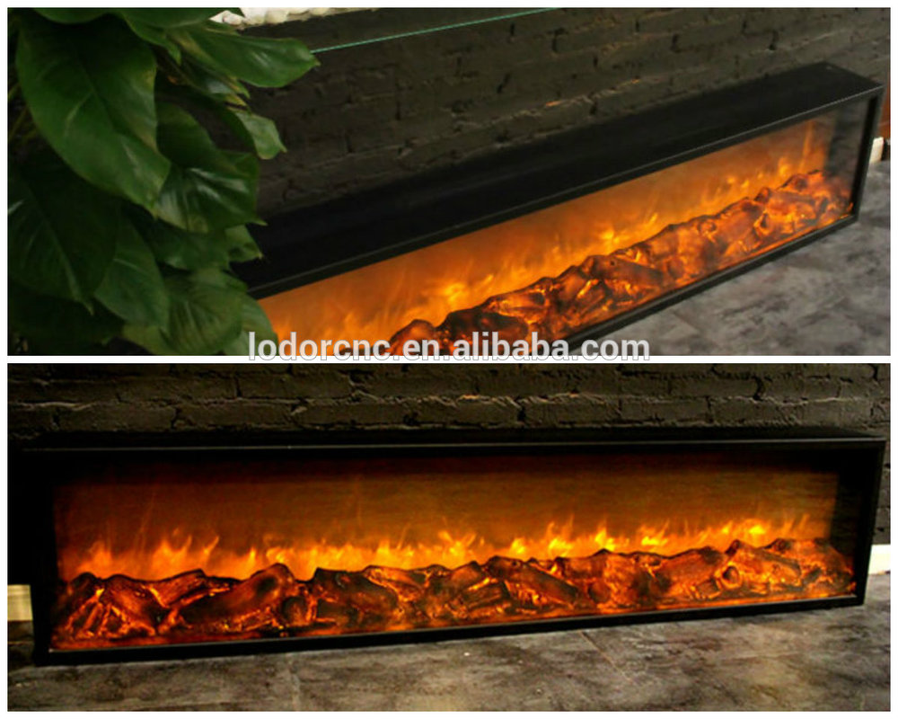 20.20m length pebbels stone log fuel effect insert fireplace electric without  heat