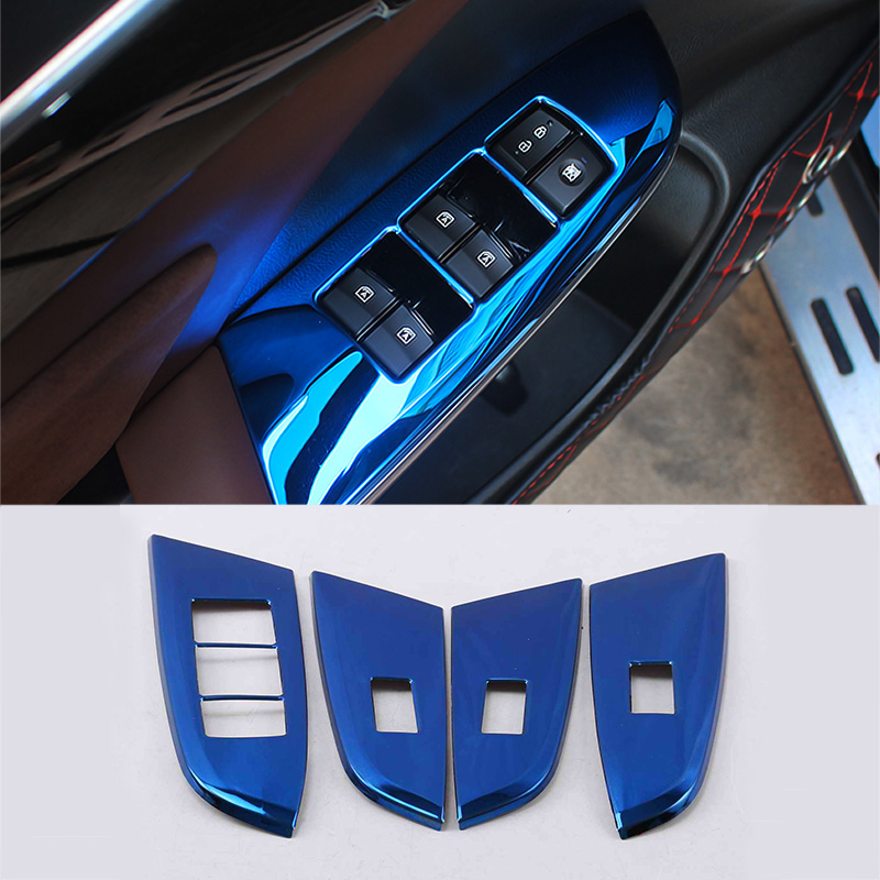 Lsrtw2017 for Trumpchi Gs8 Car Window Switch Button Frame Trims Interior Accessories Mouldings 2017 2018 2019 2020