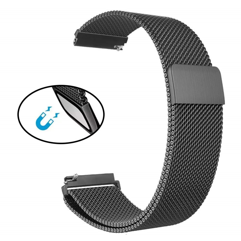 For Samsung Galaxy Watch Active 2 40mm 44mm Band Milanese Loop Wristband 20mm Stainless Steel Strap Bracelet For Active2 Bands