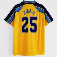 1996-97 classic No.25 ZOLA maglie Di alta qualità T-shirt Retro Chelsea Away 1996/97 personalizza le maglie Di Matteo