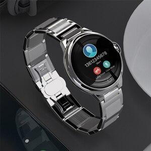 2019 kobiet inteligentny zegarek monitor tętna bluetooth smartwatch fitness z nadajnikiem świąteczne prezenty dla iPhone Huawei Samsung Xiaomi