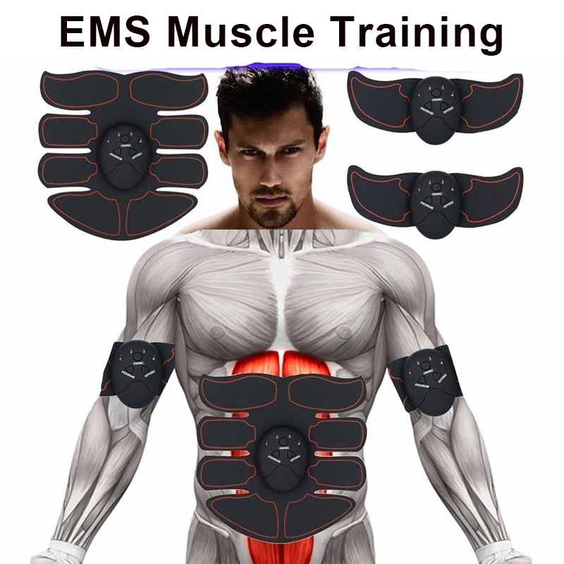Abdominal Muscle Stimulator Trainer EMS Abs Fitness Equipment Training Gear Muscles Electrostimulator Toner Exercise At Home Gym image