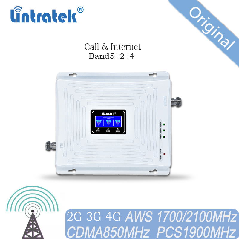 850MHz Signal Repeater 1900 1700 Signal Amplifier 2G 3G 4G B2 B4 B5 Signal Boosterfor All The Countries In Americas
