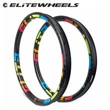 26er XC/AM/엔듀로/DH MTB 림 T700 탄소 섬유 만든 Hookless 바퀴 튜브리스 준비 산 자전거 바퀴 24/28/32 구멍