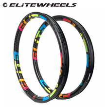 26er XC/AM/Enduro/DH MTB Rim T700 Carbon Fiber Made Hookless Rims Tubeless Ready For Mountain Bike Wheels Bicycle 24/28/32 Holes